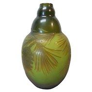 Original D'ARGENTHAL French Cameo Art Glass Vase, c. 1919-25