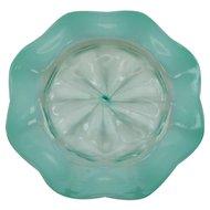 L C Tiffany FAVRILE  Aqua PASTEL Iridescent Opalescent Art Glass Plate, Signed