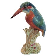 Royal Worcester Porcelain Kingfisher Figurine #2666