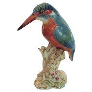 Royal Worcester Porcelain Kingfisher Figurine #2666