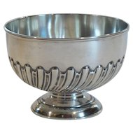 English Sterling Silver Pedestal Bowl, c. 1900
