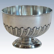 English Sterling Silver Pedestal Bowl, c. 1900