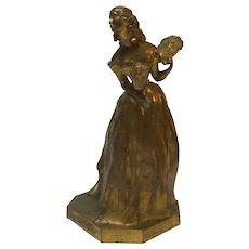 French Gilt Bronze Sculpture by H. VARENNE (1860-1933)