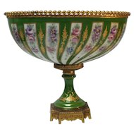 SEVRES Porcelain Bolted Centerpiece / Jardiniere, Bronze Mounts