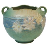 Roseville Art Pottery COSMOS Jardinere, #376-6, c. 1940's