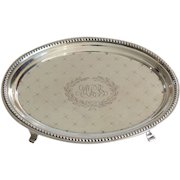 19th C. Sterling Silver Teapot Stand, J E Caldwell & Co.