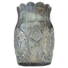 RARE 19th C. American Brilliant Period (ABP) Cut Glass SPOONER