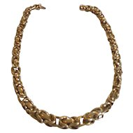 "14 Karat Gold Estate 16.5"" BYZENTINE Chain Necklace, Italy, 45 Grams"