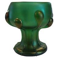 Loetz VESUVIAN Creta Glatt Art Glass Vase, TADPOLES, c. 1900