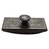 Tiffany Studios Bronze PINE NEEDLE Rolling Ink Blotter #995
