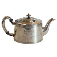 American Sterling Silver Tea Pot, Galt & Brothers, 500 grams