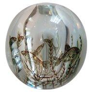 Mid-Century Orrefors Edward Hald GRAAL Fish Vase