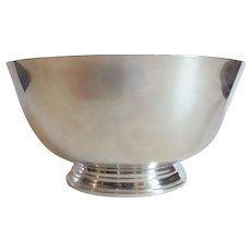 "Sterling Silver Paul Revere 8.75"" Bowl, Frank M. Whiting, 850 grams"