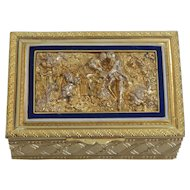 French Gilt Bronze & Enamel Dresser or Trinket Box