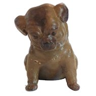 German Papier Mache Pug Puppy Candy Container, c. 1910-30
