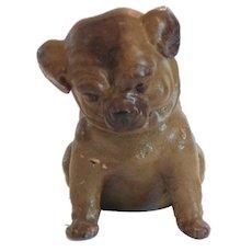 German Papier Mache Pug Puppy Candy Container, c. 1910-30