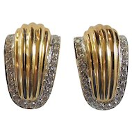 14 Karat Gold & Diamond Earrings, 2000 Appraisal @ $2629.50