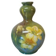 Royal Bonn Germany Art Pottery Hand Painted Vase, c. 1900