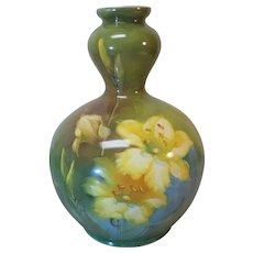 Royal Bonn Germany Art Pottery Hand Painted Vase, c. 1900