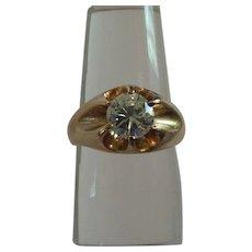 14 K Gold 1 Ct. Diamond Unisex Ring, Size 6.5, 2018 Appraisal @ $8554.00