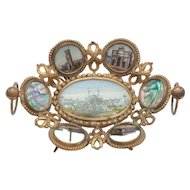 French Eglomise Calling Card Tray, Grand Tour Paris Expo Souvenir, c. 1889