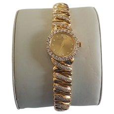Vintage 14 Karat Baume & Mercier Watch, 3.50 Ct. Diamonds, 1988 Appraisal $17,700.00
