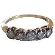Estate 14 Karat Gold & Diamond Ring, Size 7.25 (Appraised $1250.00)