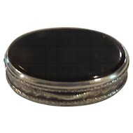 19th Century Continental .800 Sterling Silver & Shell Oval Trinket or Pill Box