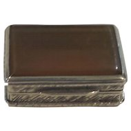 19th Century Continental .800 Silver & Polished Shell Trinket or Pill Box