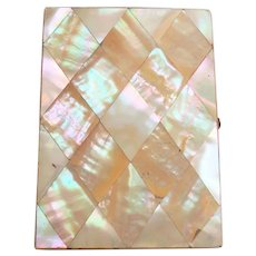 19th C. Mother-of-Pearl Calling Card Holder Case
