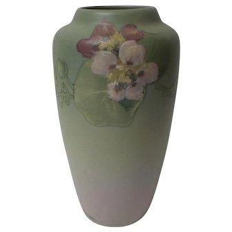 Weller HUDSON Art Pottery Matte Vase, Signed McLaughlin, c. 1920's