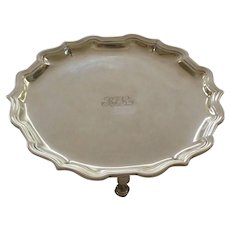 """Tiffany & Co. Sterling Silver 6.25"""" Footed Salver / Tray, c, 1907-1947"""