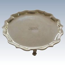 "Tiffany & Co. Sterling Silver 6.25"" Footed Salver / Tray, c, 1907-1947"