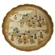 Japanese Meiji Period KYOTO SATSUMA Plate