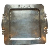 Dirk Van Erp Silver Plate Arts & Crafts Tray, Signed, c. 1908-1929