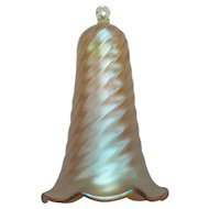 Novelty Art Glass Gold Iridescent SMOKE BELL, c. 1920's