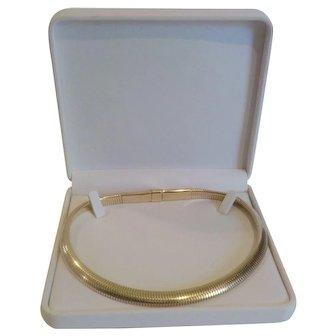 """FORSTNER 14 K Gold Flex-Stretch """"Gas Pipe"""" 18"""" Necklace, 75 grams"""