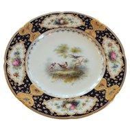 Royal Doulton Gilt Encrusted Cabinet Plate, Pheasants, c. 1902-1922