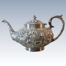JACOB & JENKINS Sterling Silver Tea Pot, c. 1894-1908