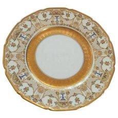 Royal Doulton Gilt Encrusted Floral Cabinet Plate, c. 1902-1922