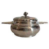 French Hallmarked Sterling Silver ECUELLE, Tureen or Covered Serving Dish