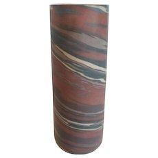"Niloak MISSION WARE Swirl 10.25"" Vase, First Mark (#3)"