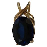 14 Karat Gold Custom Made Tanzanite Pendant