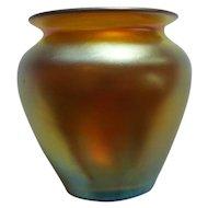 Steuben Carder Gold AURENE Art Glass Minia. Vase #2648
