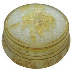 ST. LOUIS French Cameo Art Glass Dresser / Powder Box