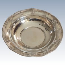 Wallace ROSE POINT Sterling Silver Bowl, 255 grams