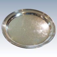 "Preisner Sterling Silver 13"" Service Tray #168, 605 grams"