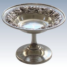 Stieff REPOUSSE Sterling Silver Compote #126