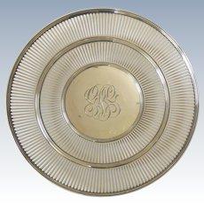 """Watson Sterling Silver 9.5"""" Sandwich Tray / Dessert Plate"""