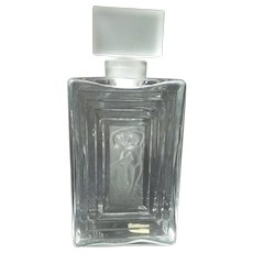"""Lalique DUNCAN No. 3 Crystal 8"""" Perfume Bottle, Frosted Nudes"""